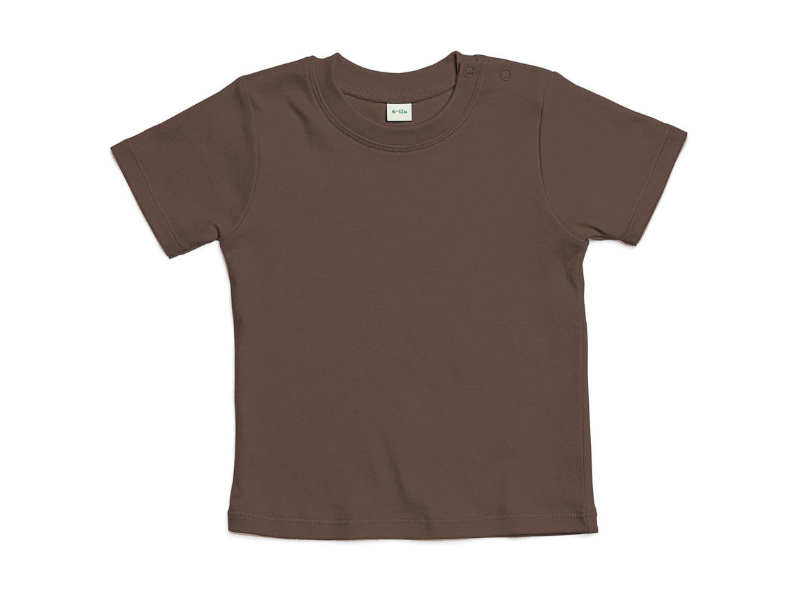 BabyBugz Baby T-Shirt, Mocha Organic, 6-12 bedrucken, Art.-Nr. 047477293