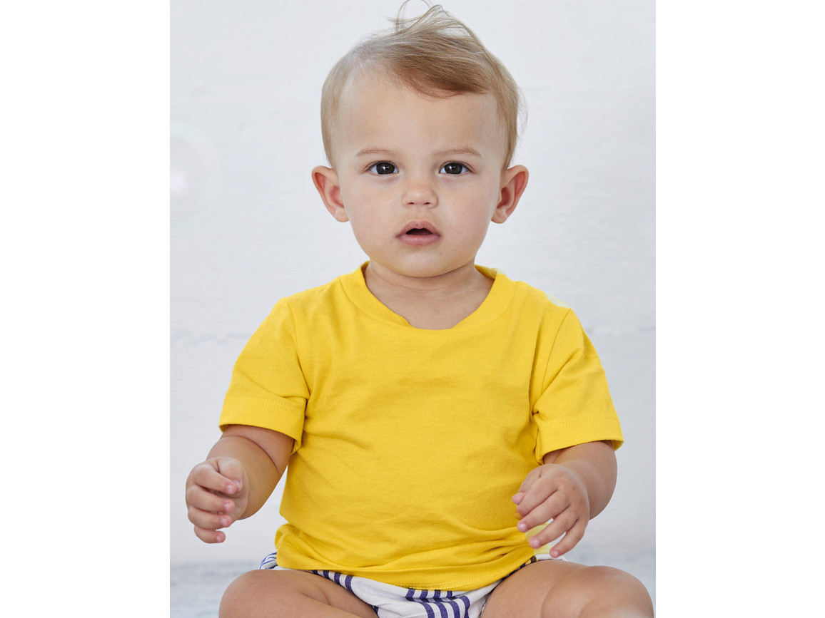 Bella Baby Jersey Short Sleeve Tee, White, 18-24 bedrucken, Art.-Nr. 048060005