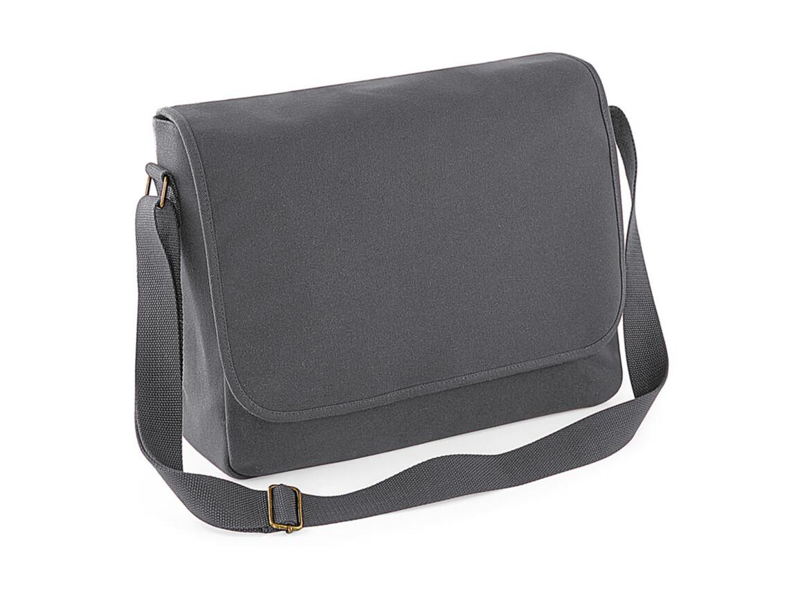 Bag Base Classic Canvas Messenger, Graphite Grey, One Size bedrucken, Art.-Nr. 052291310