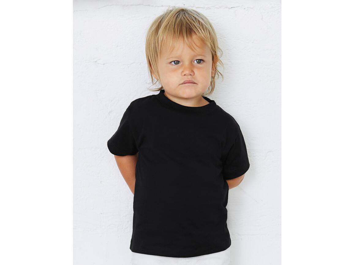 Bella Toddler Jersey Short Sleeve Tee, Black, 2T bedrucken, Art.-Nr. 053061011