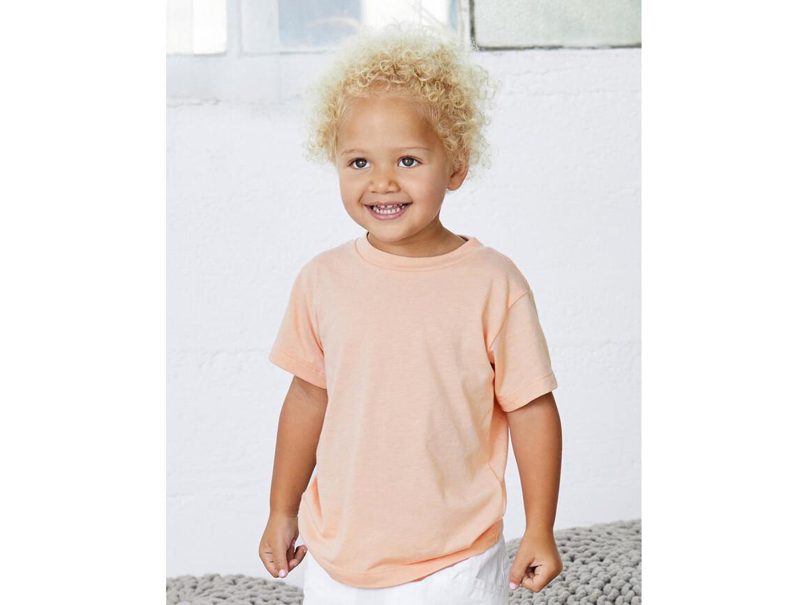 Bella Toddler Triblend Short Sleeve Tee, Peach Triblend, 2T bedrucken, Art.-Nr. 054064251