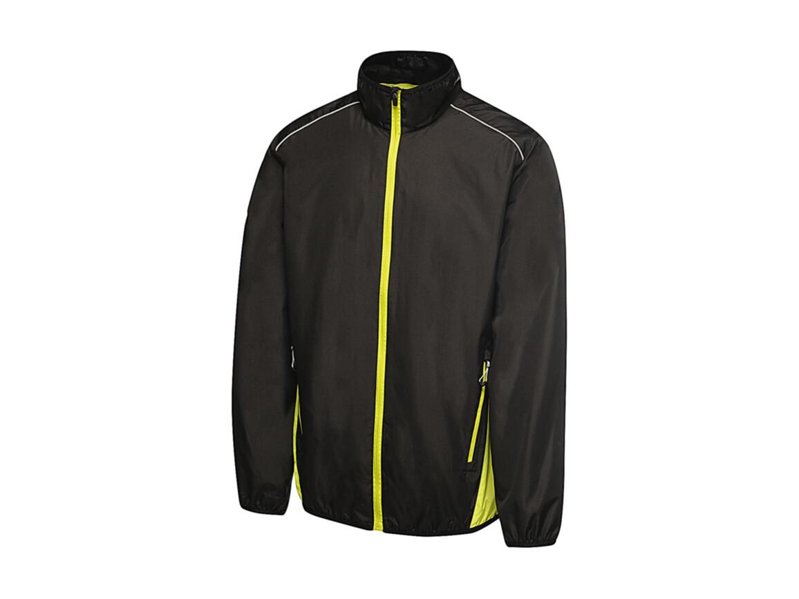 Regatta Athens Tracksuit Jacket, Black/Lime Zest, M bedrucken, Art.-Nr. 055171714