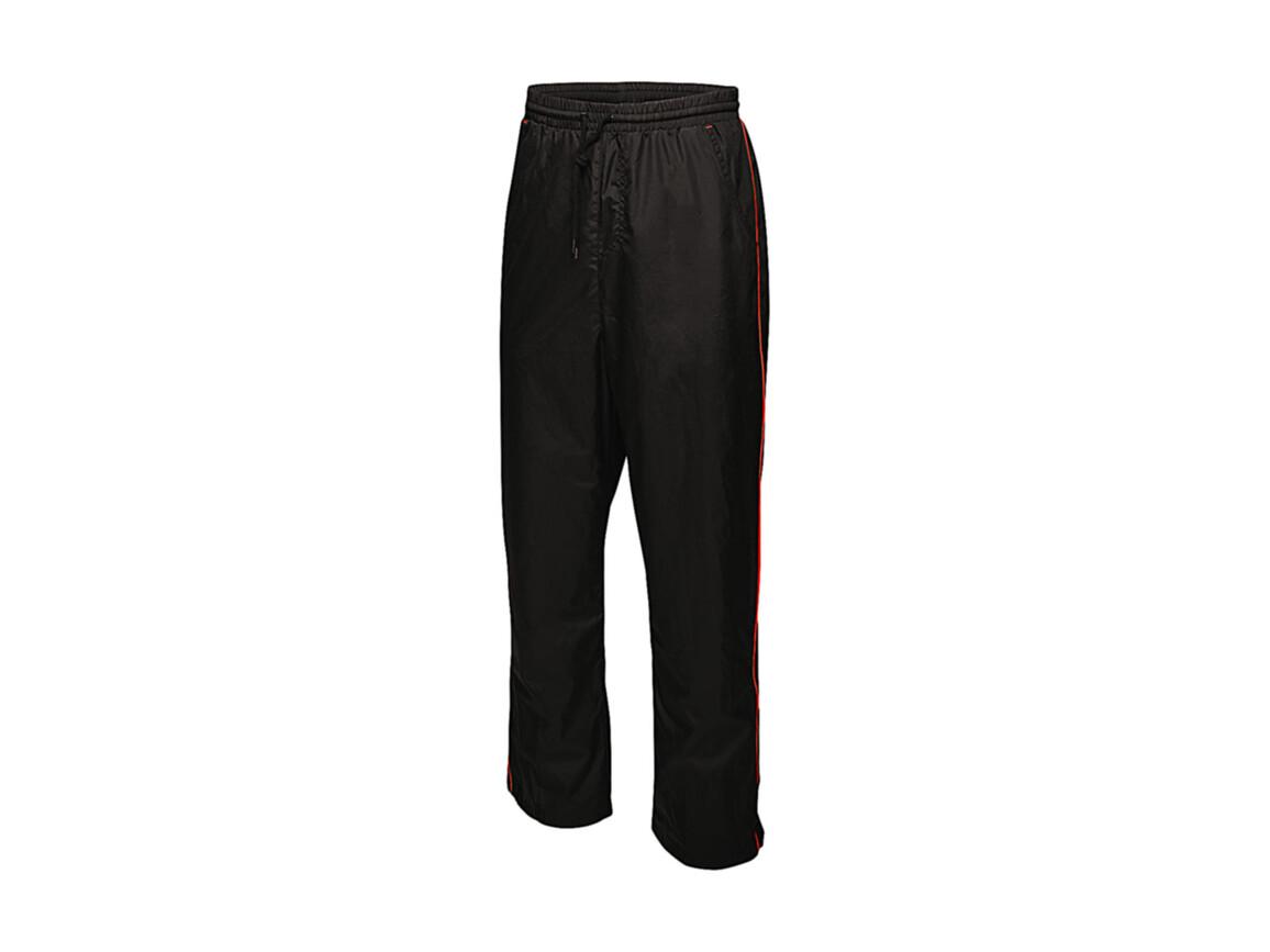 Regatta Athens Tracksuit Trousers, Black/Classic Red, L bedrucken, Art.-Nr. 056171575