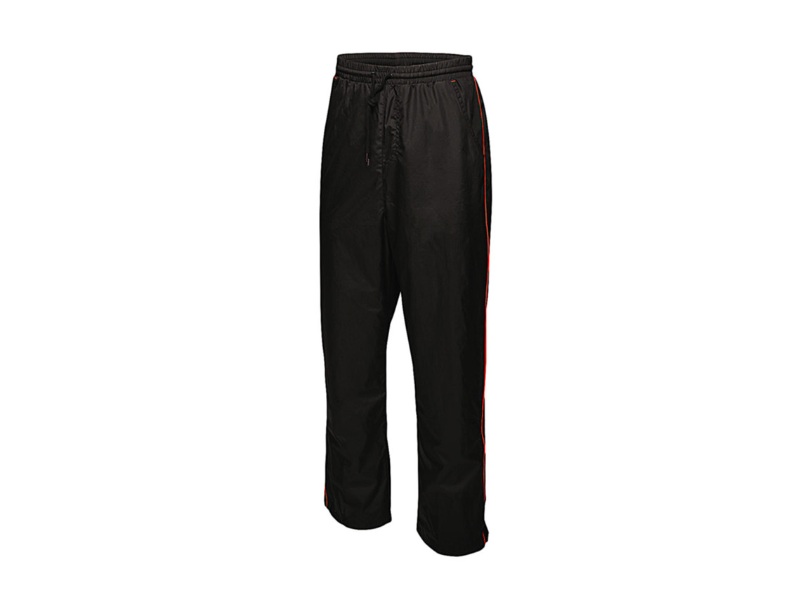 Regatta Athens Tracksuit Trousers, Black/Classic Red, XL bedrucken, Art.-Nr. 056171576