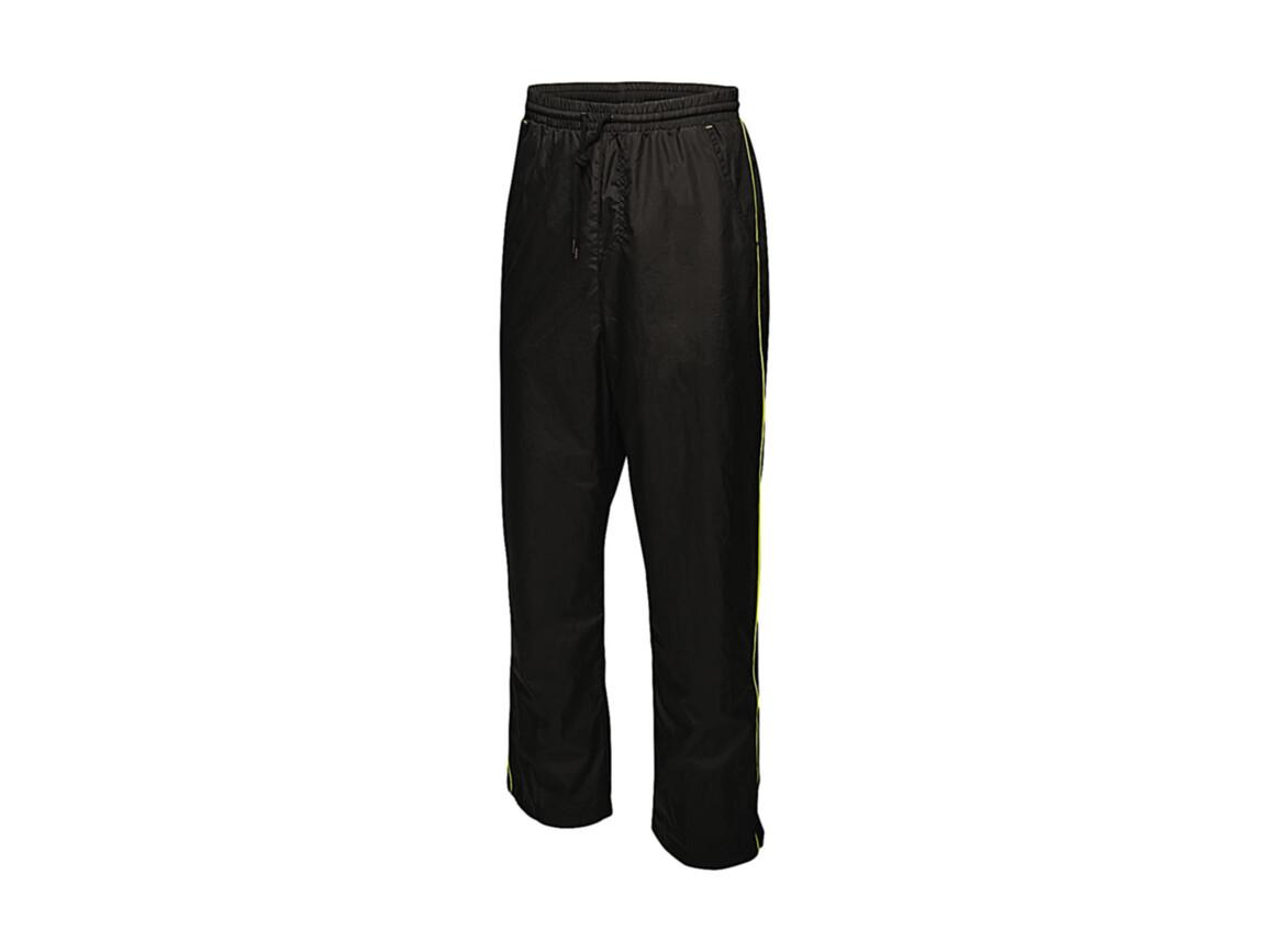 Regatta Athens Tracksuit Trousers, Black/Lime Zest, XL bedrucken, Art.-Nr. 056171716