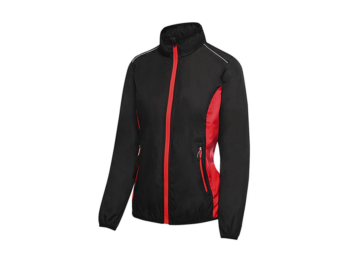 Regatta Women`s Athens Tracksuit Jacket, Black/Classic Red, 16 (42) bedrucken, Art.-Nr. 057171576