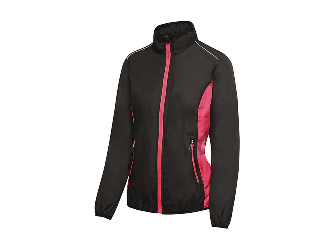 Regatta Women`s Athens Tracksuit Jacket, Black/Hot Pink, 10 (36) bedrucken, Art.-Nr. 057171693