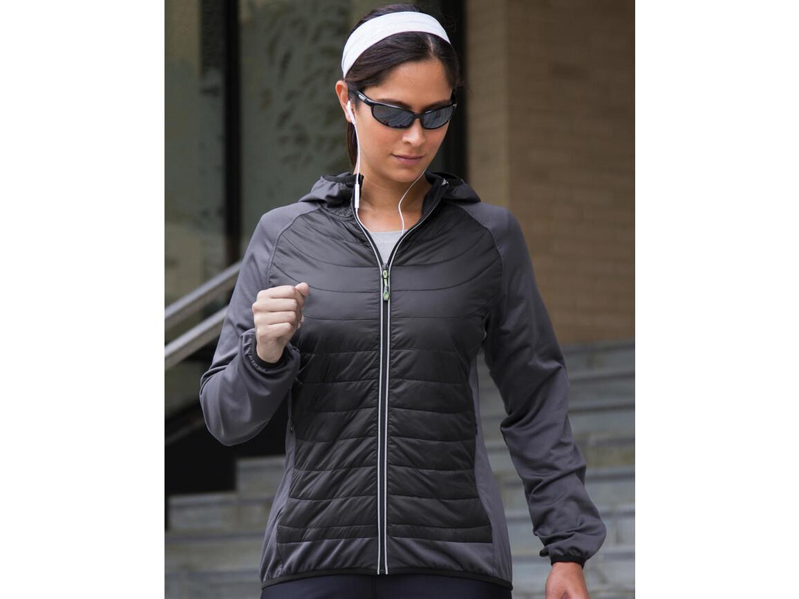 Result Women`s Zero Gravity Jacket, Black/Charcoal, L bedrucken, Art.-Nr. 057331595