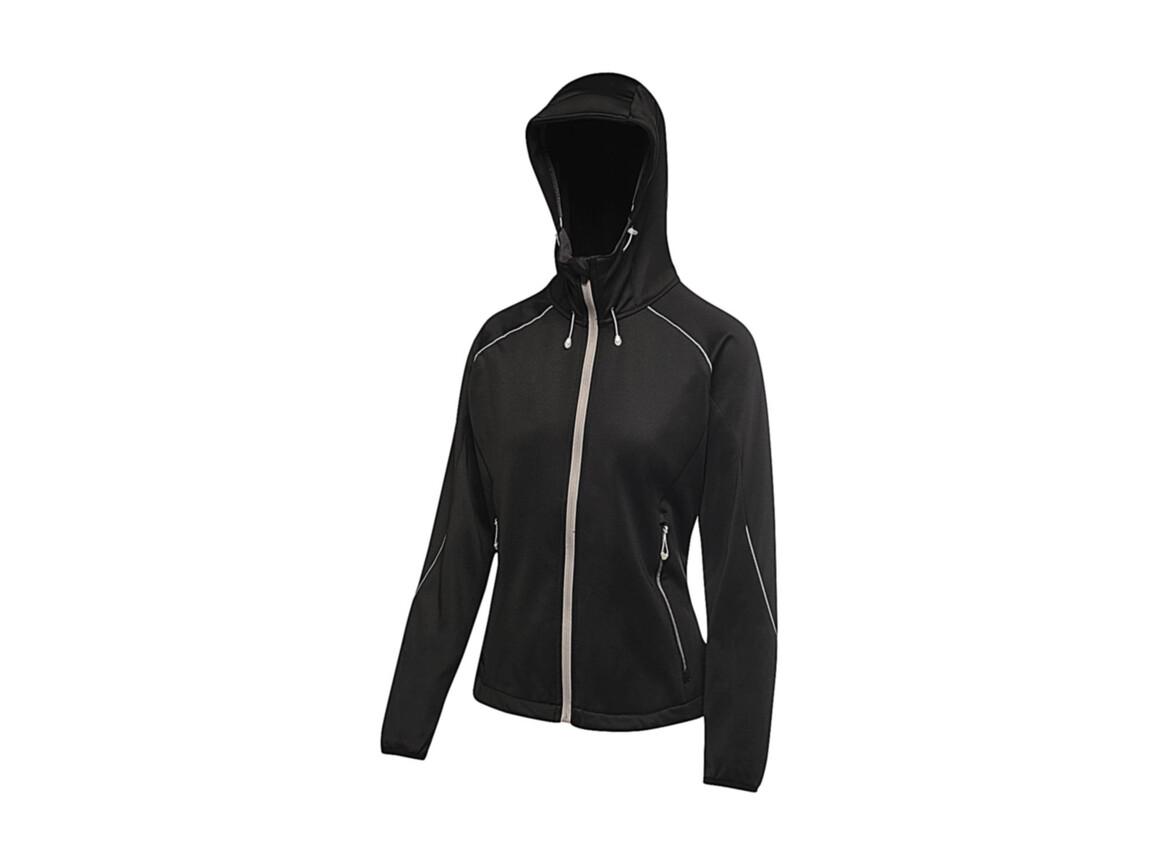 Regatta Women`s Helsinki Powerstretch Jacket, Black, 8 (34) bedrucken, Art.-Nr. 060171012