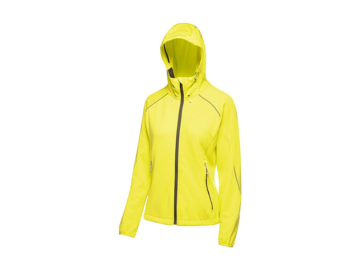 Regatta Women`s Helsinki Powerstretch Jacket, Neon Spring, 10 (36) bedrucken, Art.-Nr. 060175053