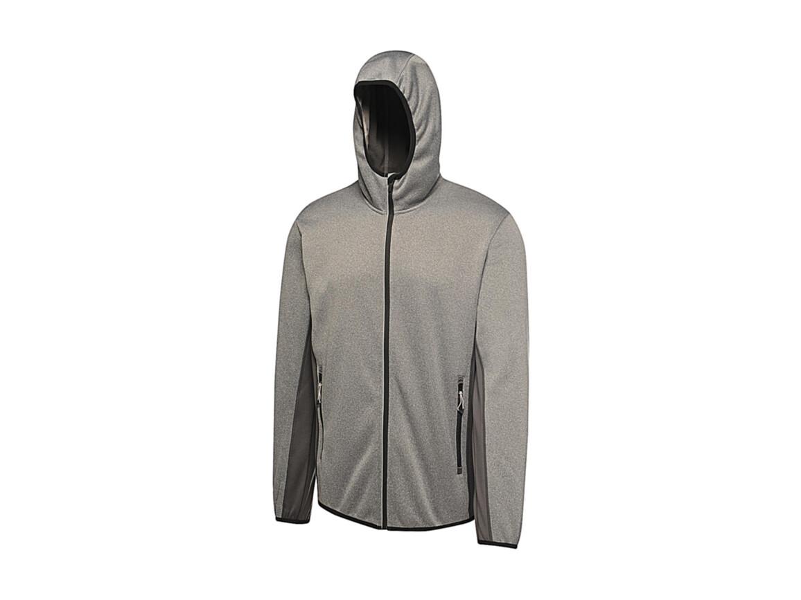 Regatta Amsterdam Hooded Softshell, Seal Grey, M bedrucken, Art.-Nr. 061171294