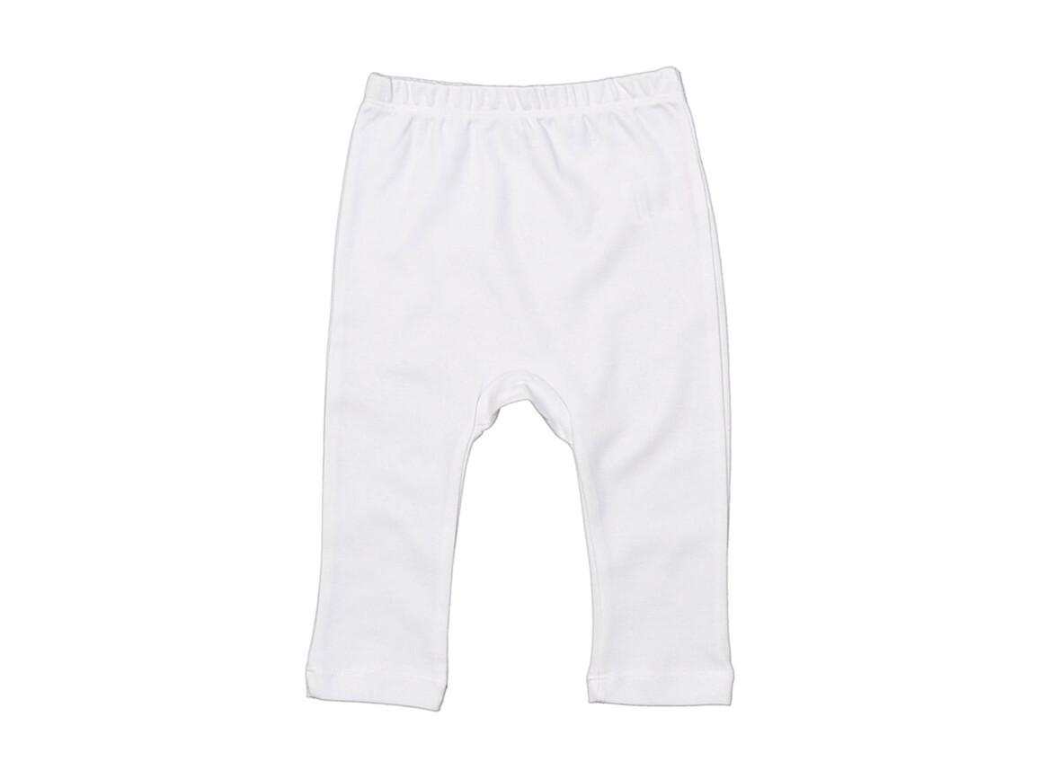 BabyBugz Baby Plain Leggings, White, 3-6 bedrucken, Art.-Nr. 064470002