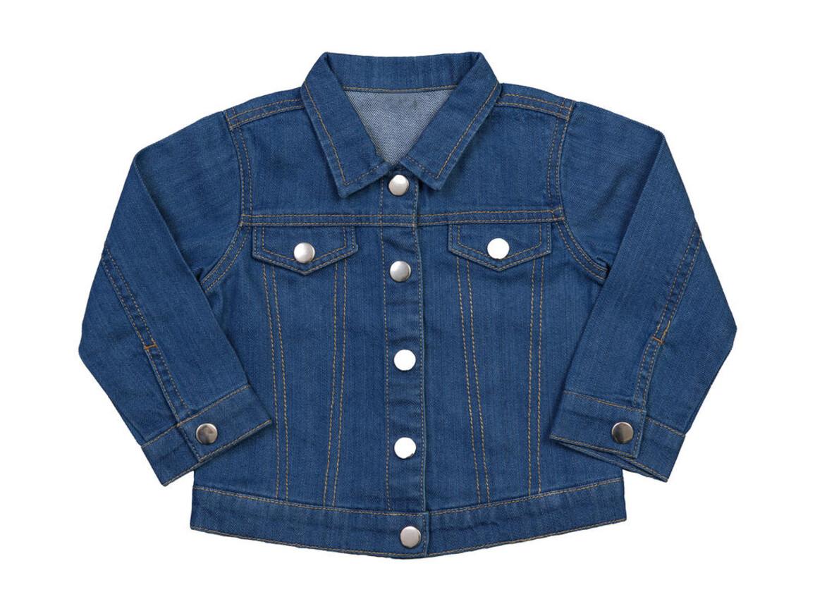 BabyBugz Baby Rocks Denim Jacket, Denim Blue, 18-24 bedrucken, Art.-Nr. 065473085