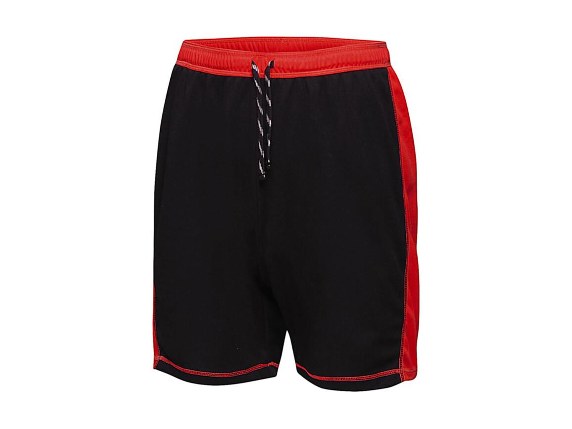 Regatta Tokyo II Short, Black/Classic Red, 2XL bedrucken, Art.-Nr. 066171577