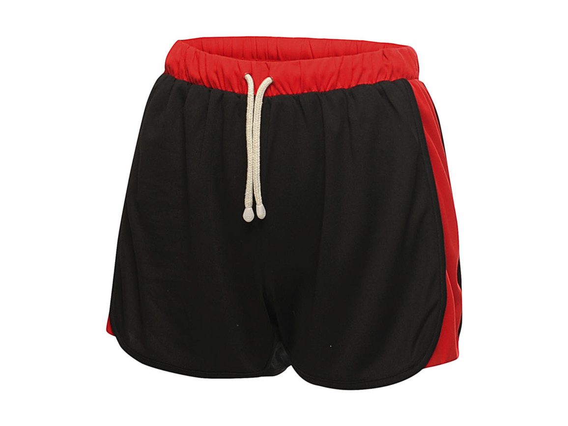 Regatta Women`s Tokyo II Short, Black/Classic Red, 8 (34) bedrucken, Art.-Nr. 067171572