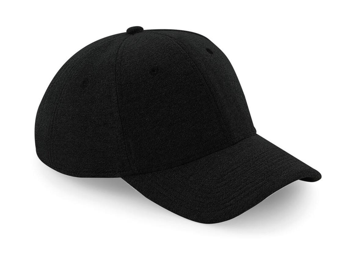 Beechfield Jersey Athleisure Baseball Cap, Black, One Size bedrucken, Art.-Nr. 068691010