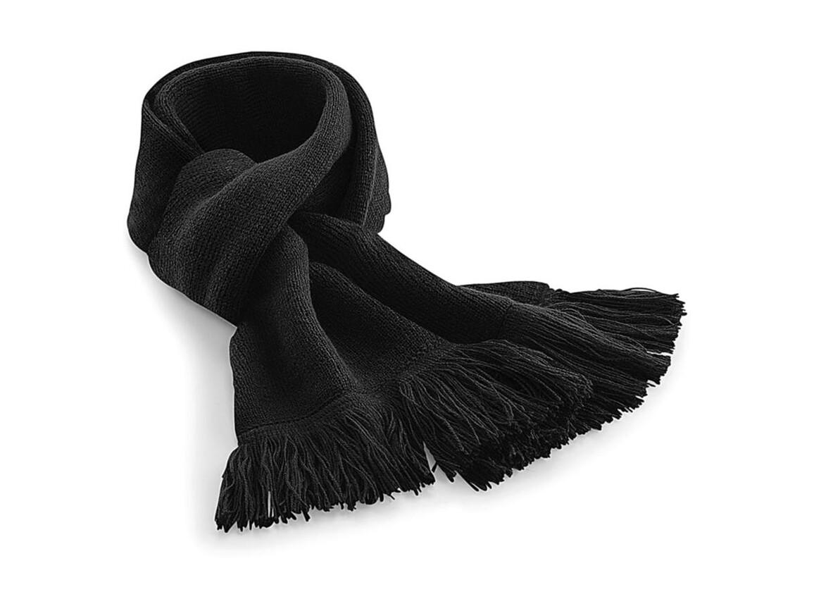Beechfield Classic Knitted Scarf, Black, One Size bedrucken, Art.-Nr. 071691010