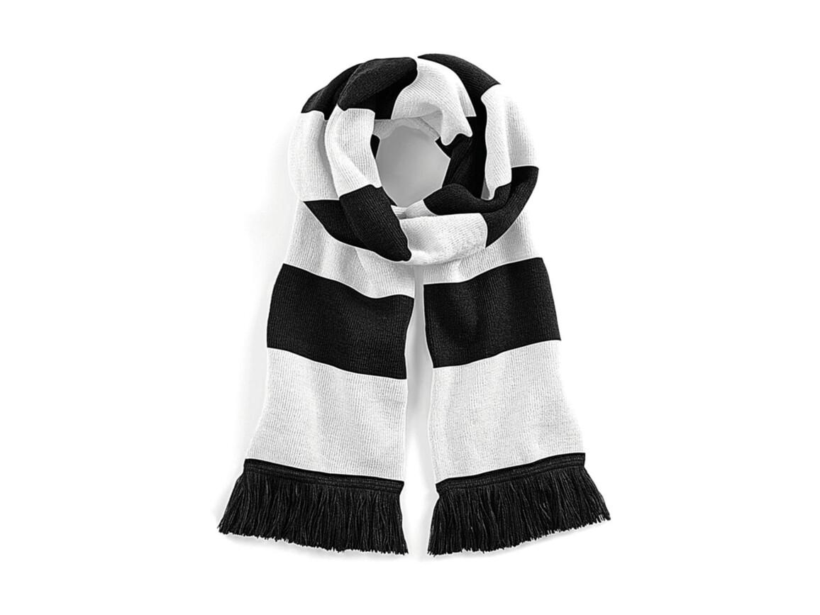 Beechfield Stadium Scarf, Black/White, One Size bedrucken, Art.-Nr. 072691500