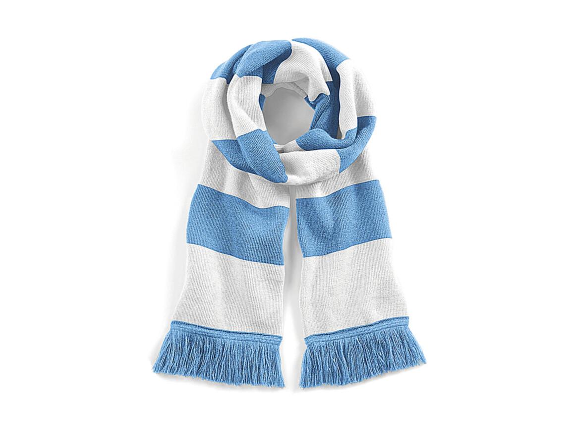 Beechfield Stadium Scarf, Sky Blue/White, One Size bedrucken, Art.-Nr. 072693520
