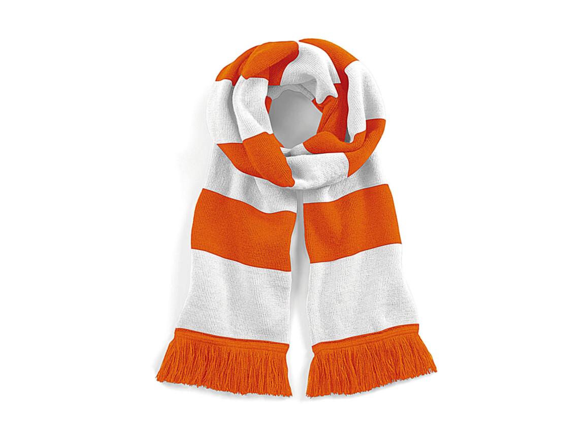 Beechfield Stadium Scarf, Orange/White, One Size bedrucken, Art.-Nr. 072694750