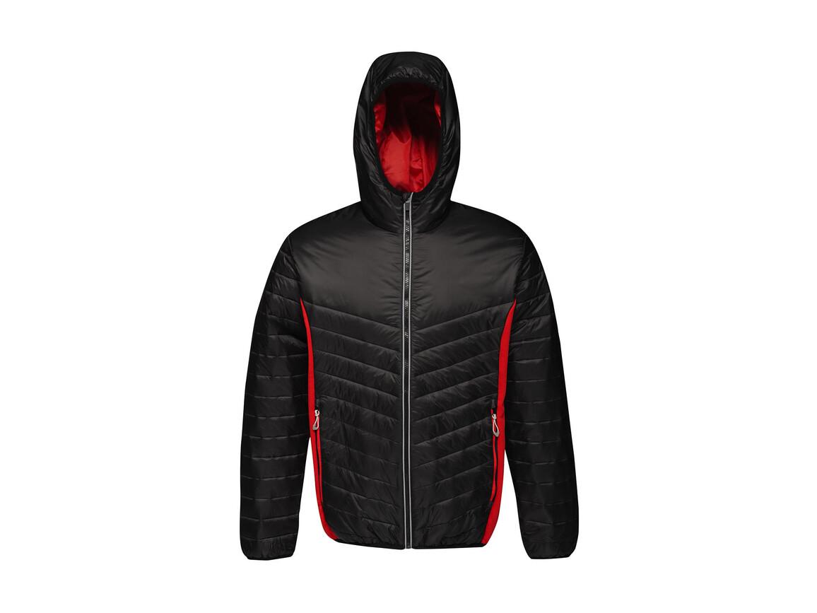 Regatta Lake Placid Jacket, Black/Classic Red, XL bedrucken, Art.-Nr. 074171576