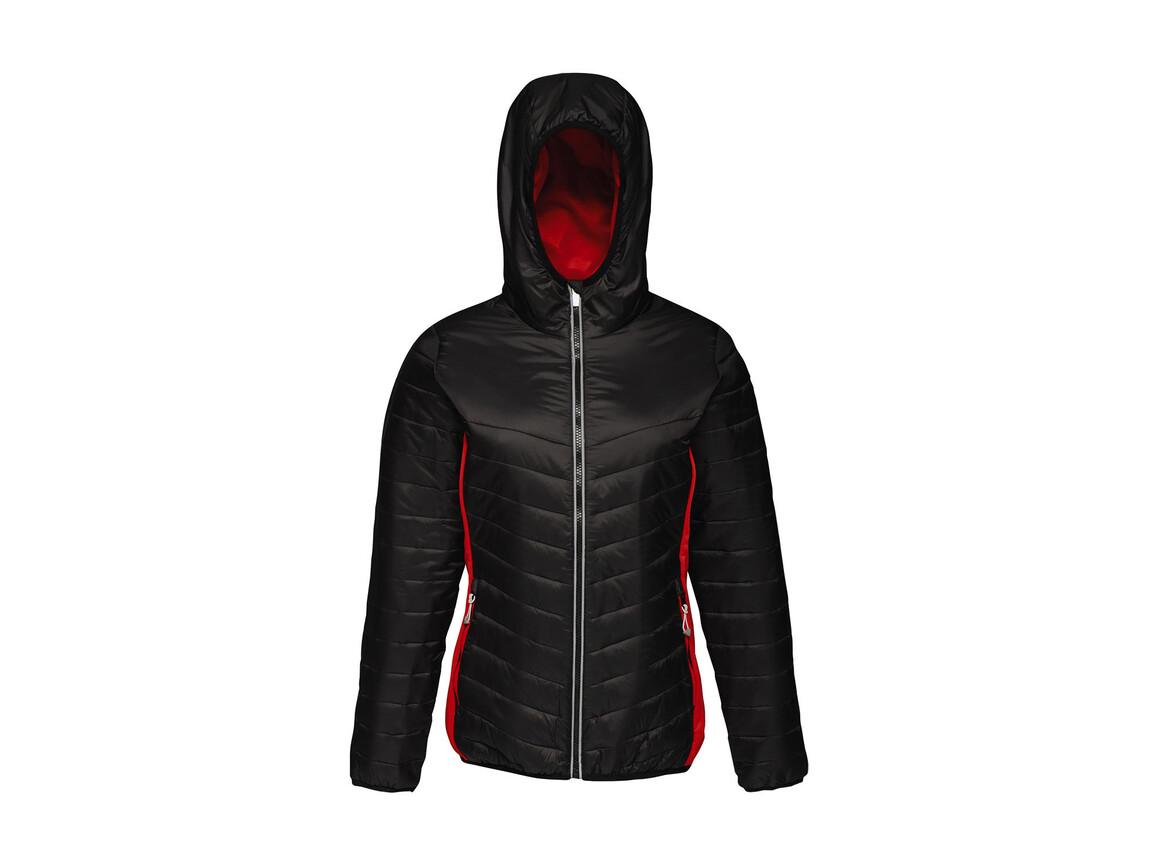 Regatta Women`s Lake Placid Jacket, Black/Classic Red, 12 (38) bedrucken, Art.-Nr. 075171574