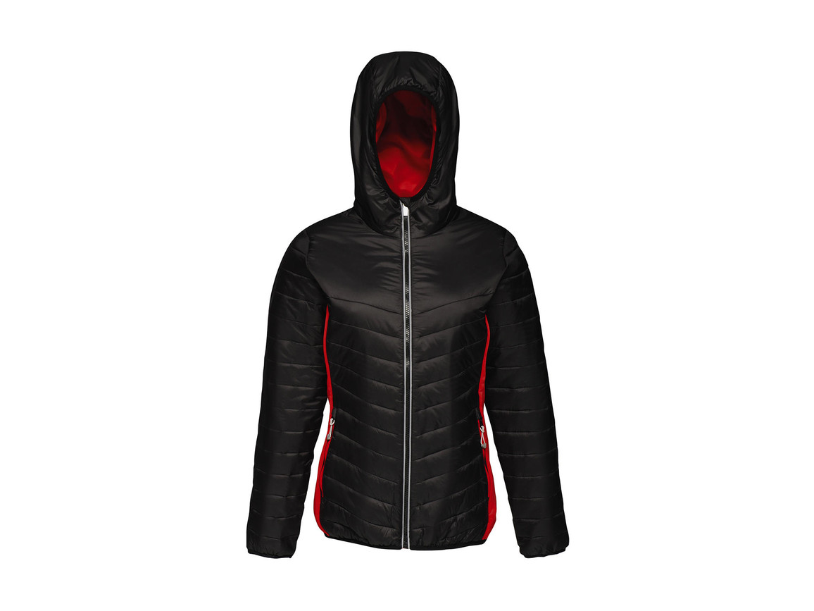 Regatta Women`s Lake Placid Jacket, Black/Classic Red, 14 (40) bedrucken, Art.-Nr. 075171575