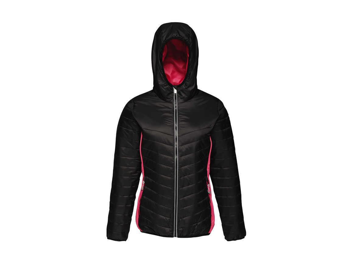 Regatta Women`s Lake Placid Jacket, Black/Hot Pink, 14 (40) bedrucken, Art.-Nr. 075171695