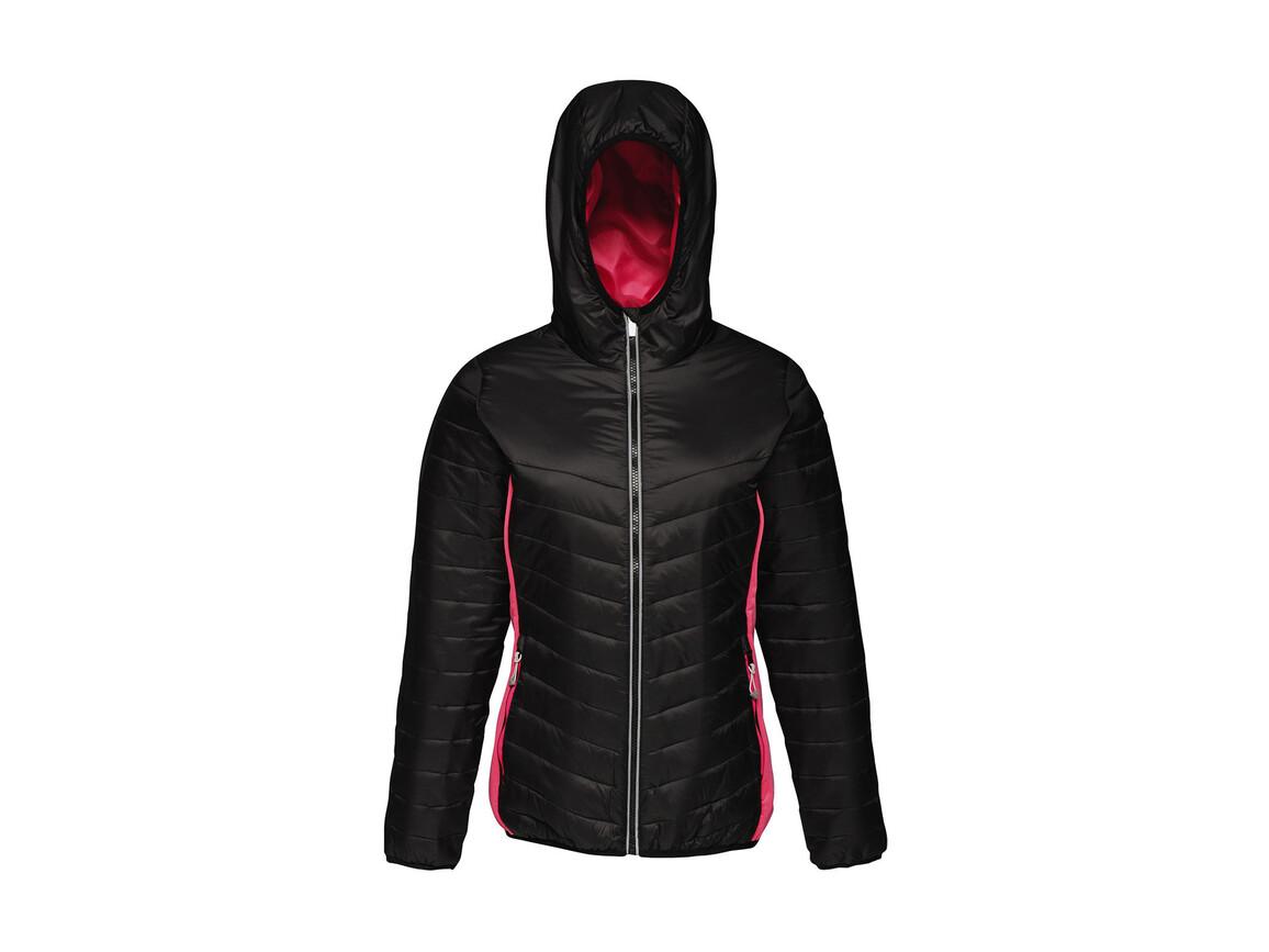 Regatta Women`s Lake Placid Jacket, Black/Hot Pink, 8 (34) bedrucken, Art.-Nr. 075171692