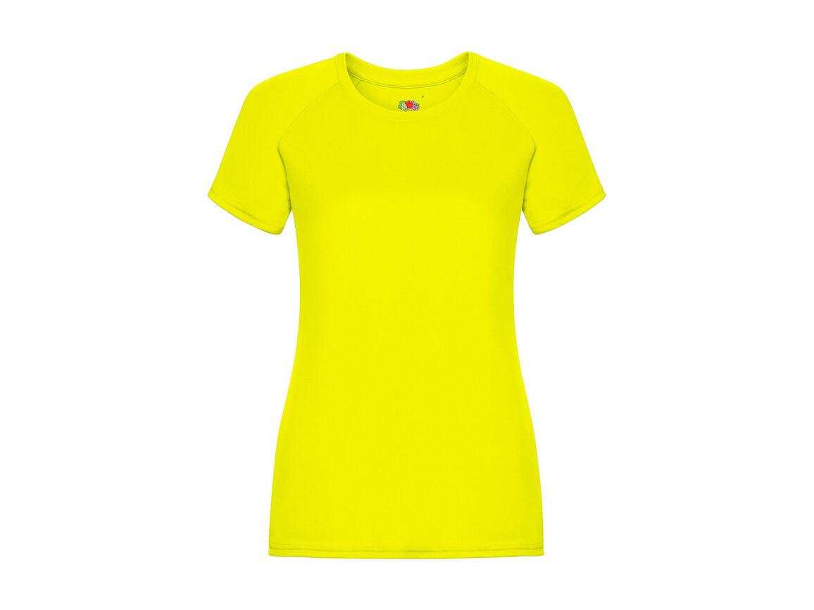 Fruit of the Loom Ladies` Performance T, Bright Yellow, S (10) bedrucken, Art.-Nr. 076016023