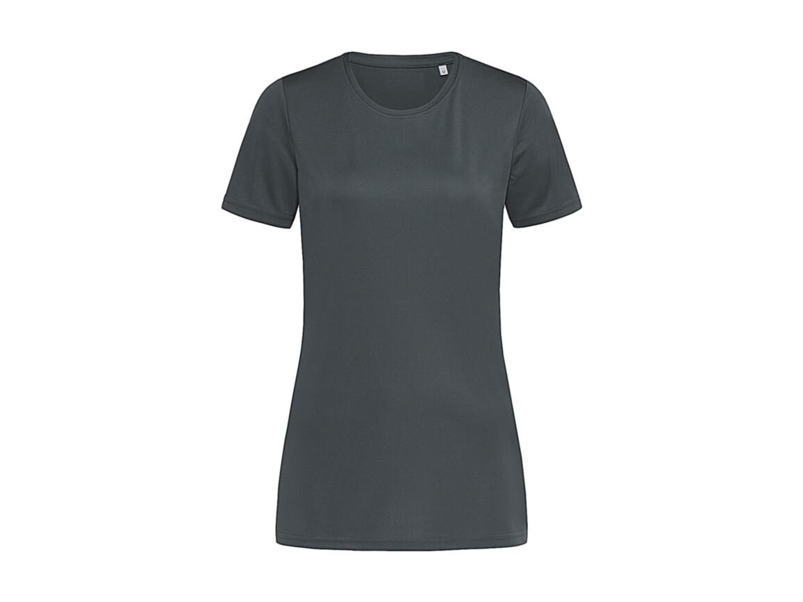 Stedman Active Sports-T Women, Granite Grey, XL bedrucken, Art.-Nr. 076051196