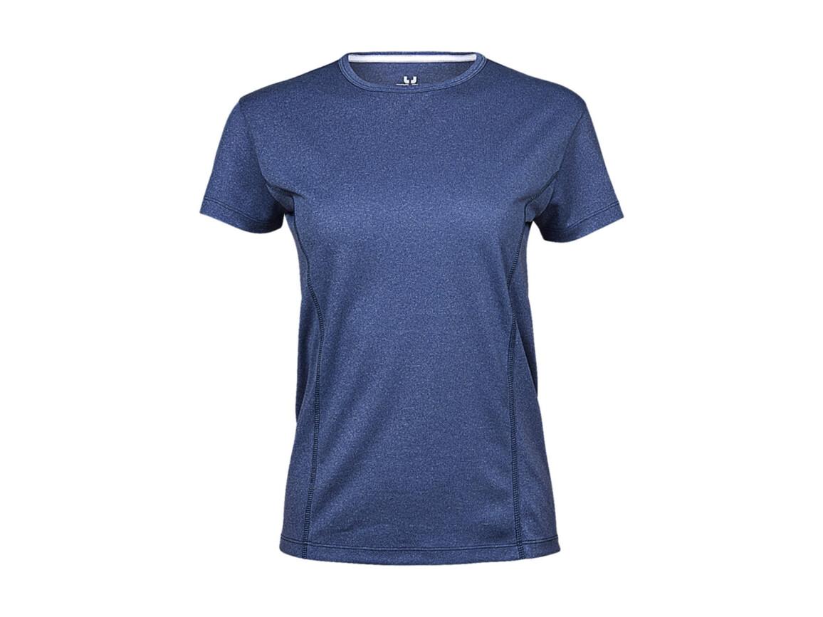 Tee Jays Ladies` Performance Tee, Blue Melange, XS bedrucken, Art.-Nr. 076543152