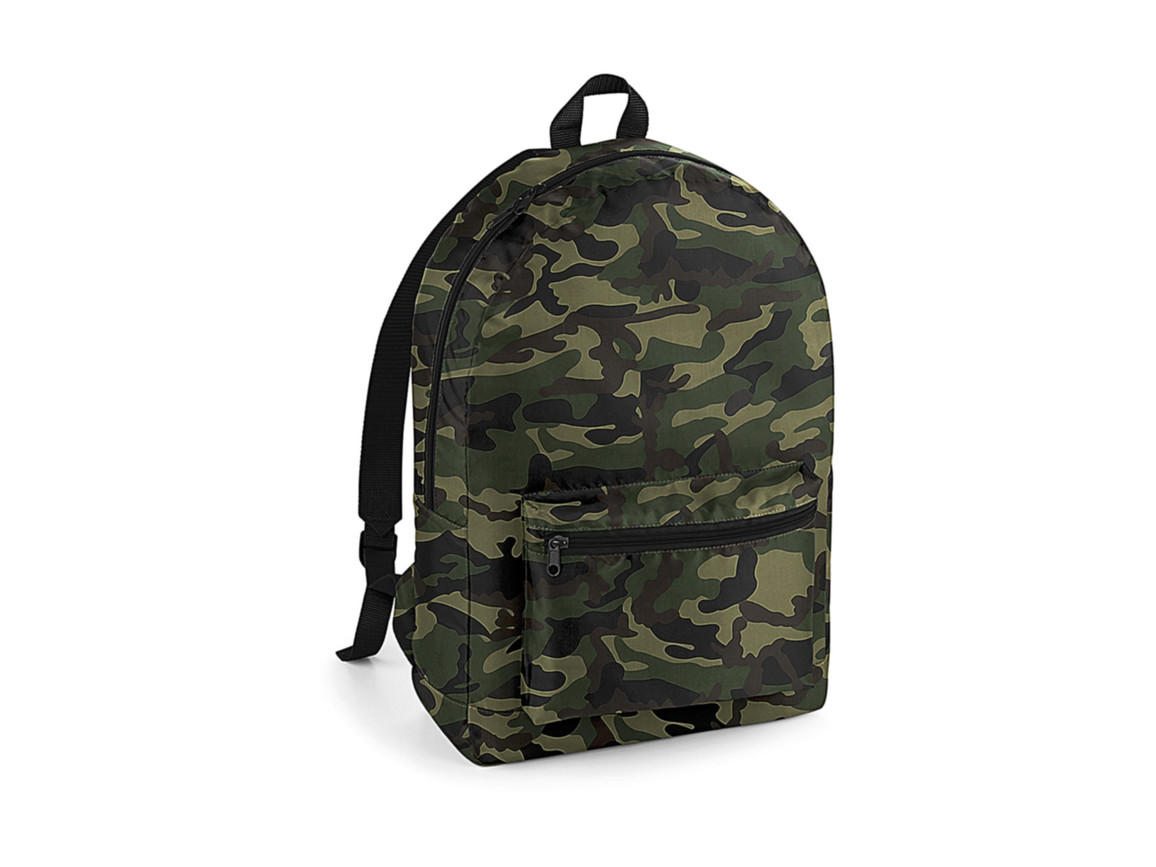 Bag Base Packaway Backpack, Jungle Camo/Black, One Size bedrucken, Art.-Nr. 077295870