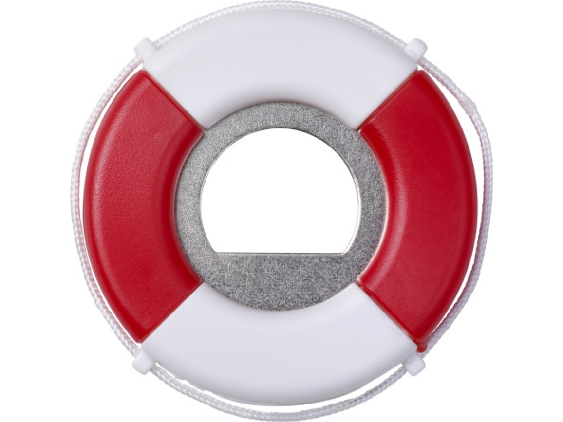 Kapselheber 'SOS' aus Kunststoff – Weiß bedrucken, Art.-Nr. 002999999_2822