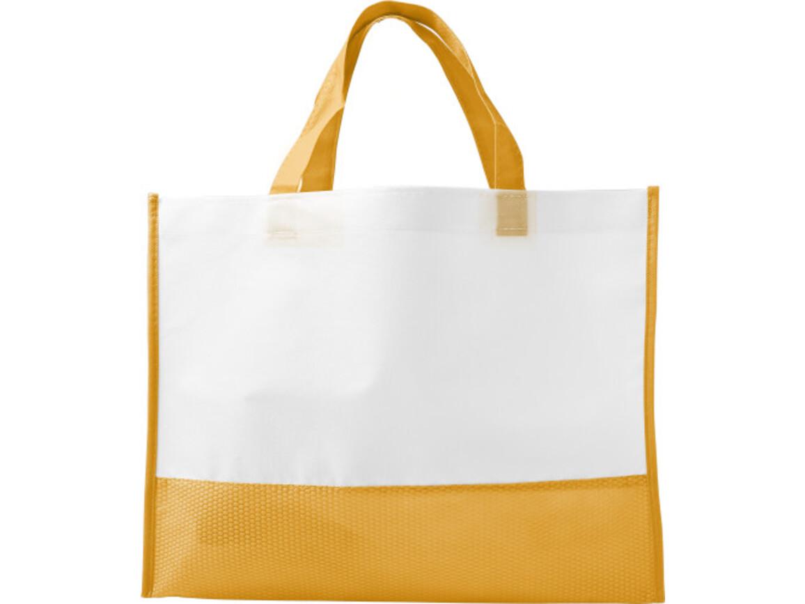 Einkaufstasche 'Handle' aus Non-woven – Orange bedrucken, Art.-Nr. 007999999_7827