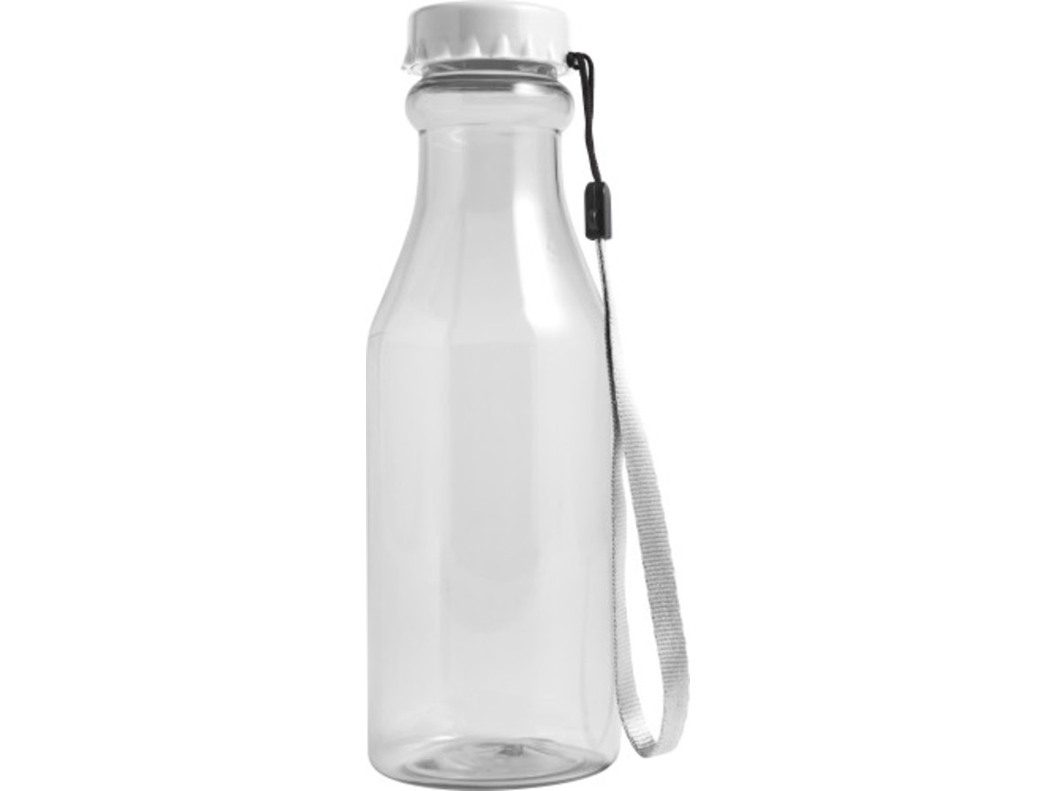 Trinkflasche 'Mary' aus Kunststoff – Weiß bedrucken, Art.-Nr. 002999999_7835