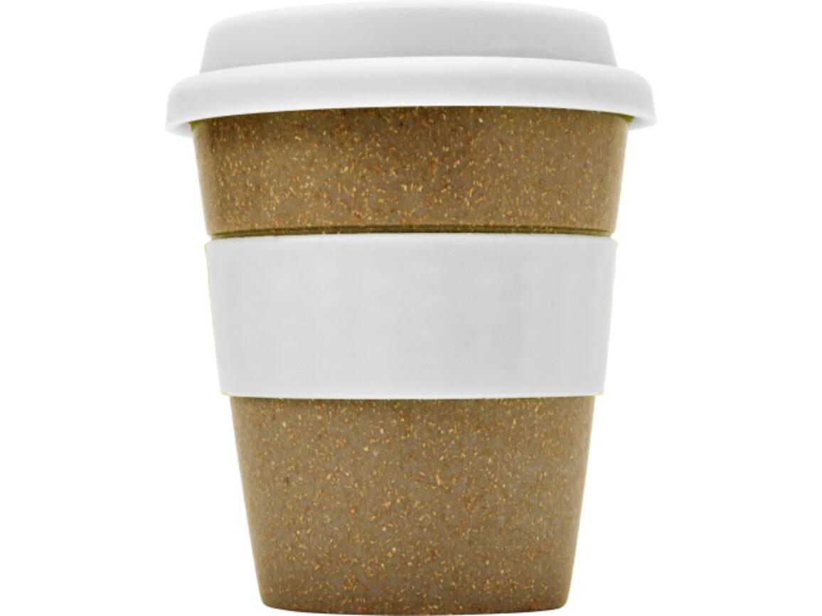 Coffee-to-go Becher 'Bamboo' aus Bambus – Weiß bedrucken, Art.-Nr. 002999999_7874