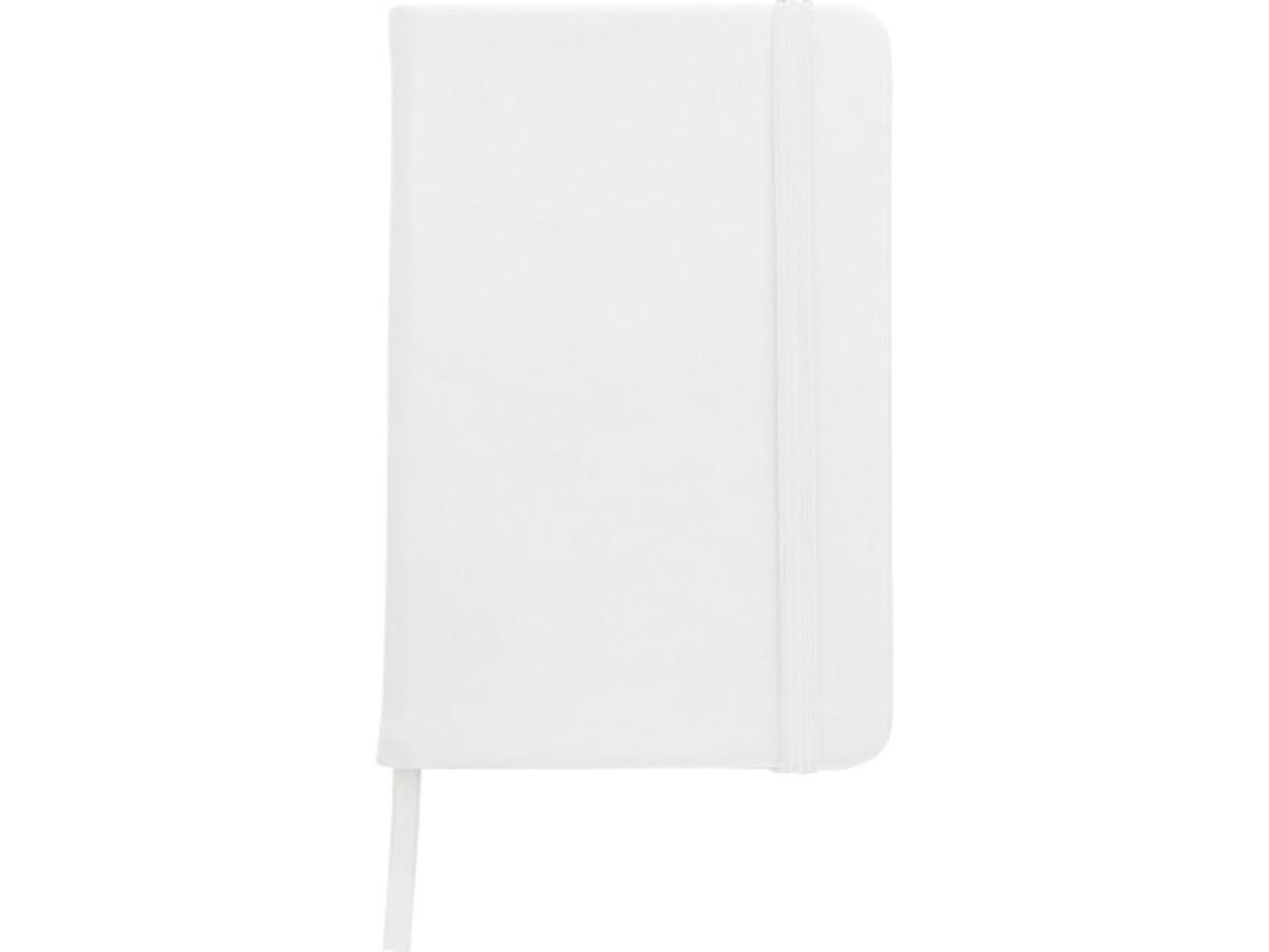 Notizbuch 'Written' aus PU – Weiß bedrucken, Art.-Nr. 002999999_8251