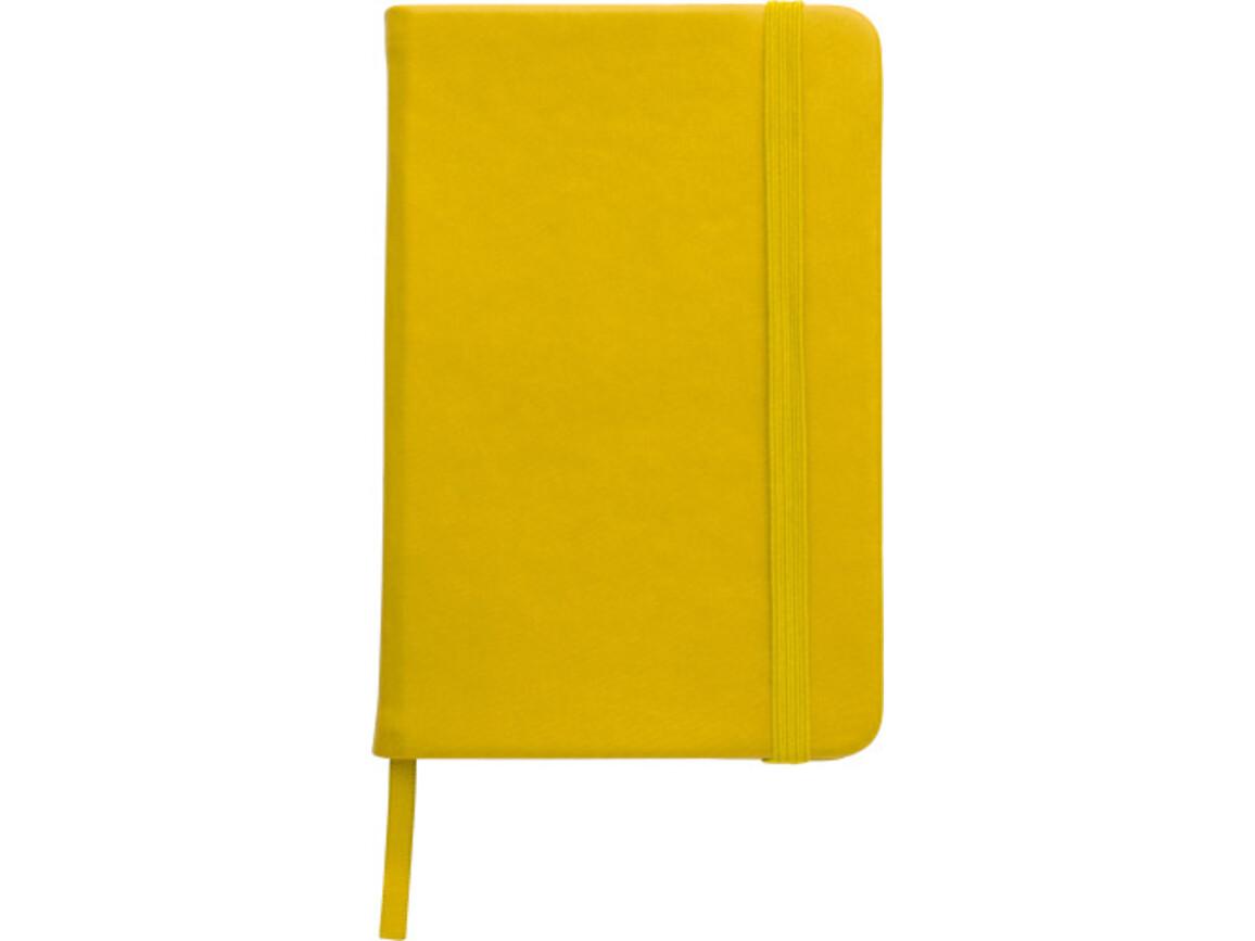 Notizbuch 'Written' aus PU – Gelb bedrucken, Art.-Nr. 006999999_8251