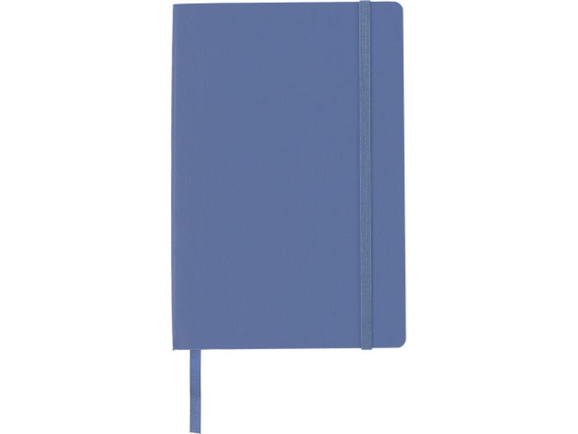Notizbuch 'Storyteller' aus PU – Blau bedrucken, Art.-Nr. 005999999_8276