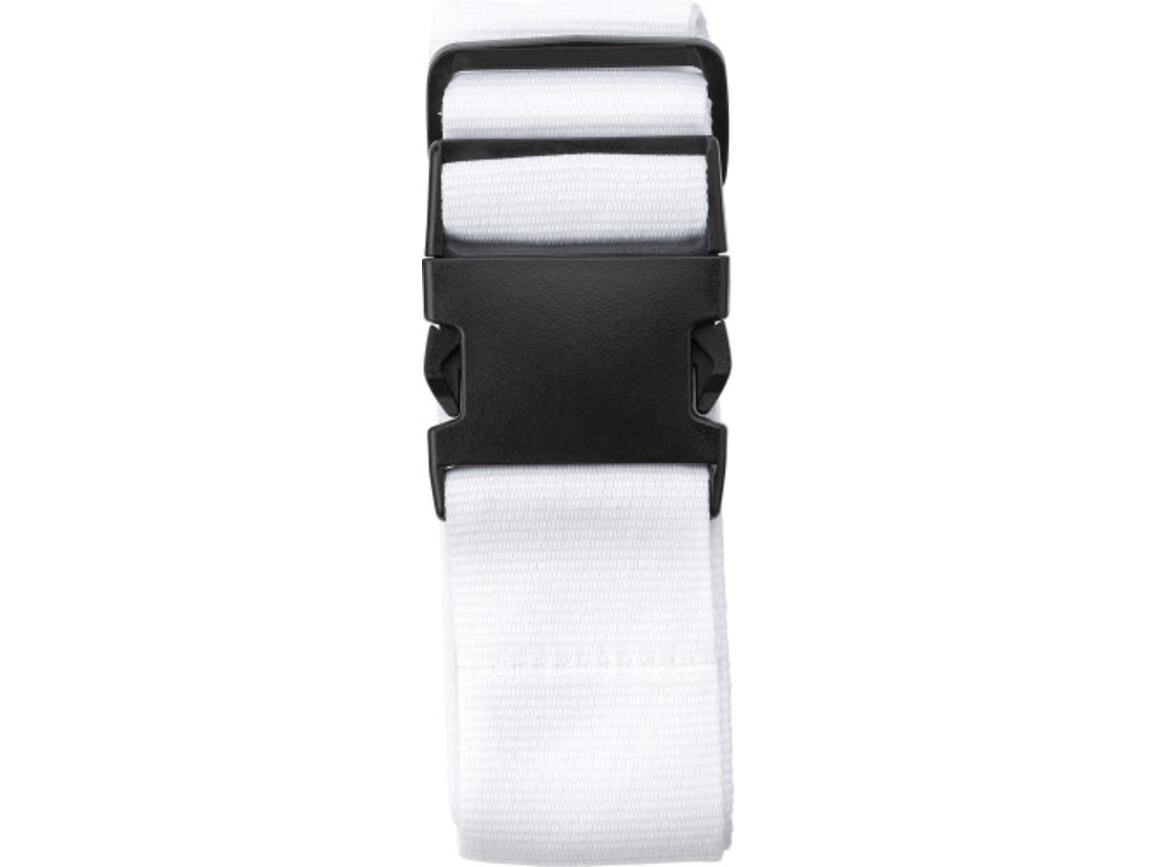 Gepäckgurt 'Hongkong' aus Polyester – Weiß bedrucken, Art.-Nr. 002999999_8405