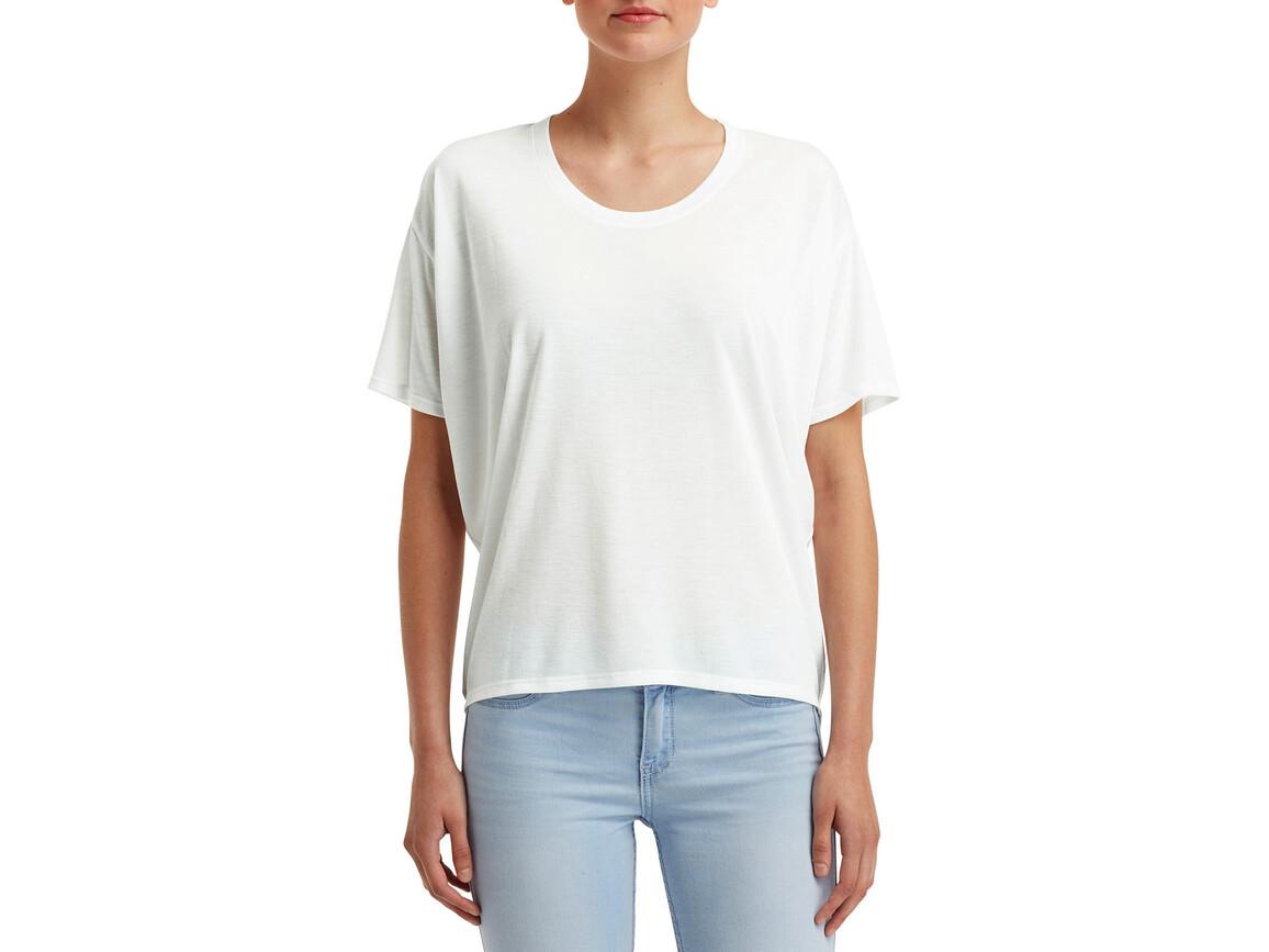 Anvil Women`s Freedom Tee, White, L bedrucken, Art.-Nr. 107080005