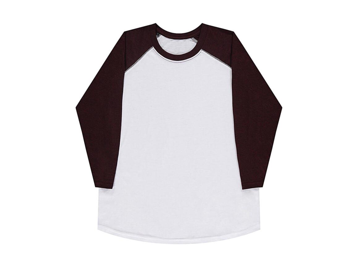 nakedshirt Jesse Unisex Baseball T-Shirt, White/Double Dyed Flame, S bedrucken, Art.-Nr. 108850543
