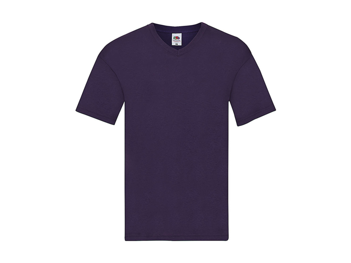 Fruit of the Loom Original V-Neck T, Purple, S bedrucken, Art.-Nr. 109013491