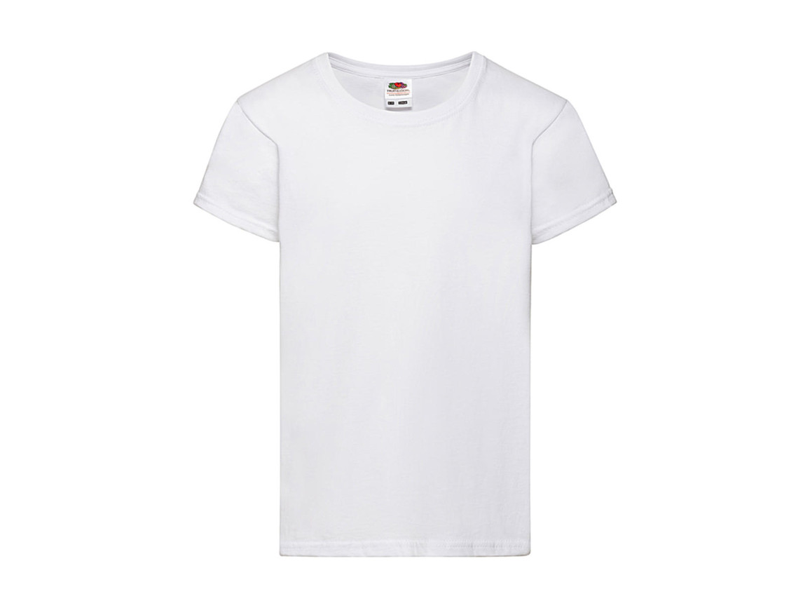Fruit of the Loom Girls Valueweight T, White, 104 (3-4) bedrucken, Art.-Nr. 181010003