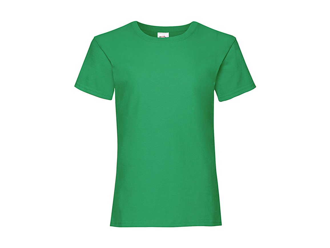 Fruit of the Loom Girls Valueweight T, Kelly Green, 164 (14-15) bedrucken, Art.-Nr. 181015188