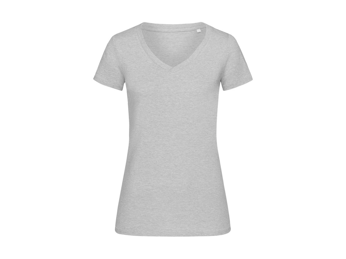 Stedman Lisa V-Neck Women, Grey Heather, XL bedrucken, Art.-Nr. 184051236