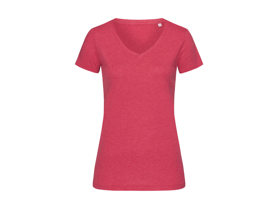 Stedman Lisa V-Neck Women, Cherry Heather, XL bedrucken, Art.-Nr. 184054046