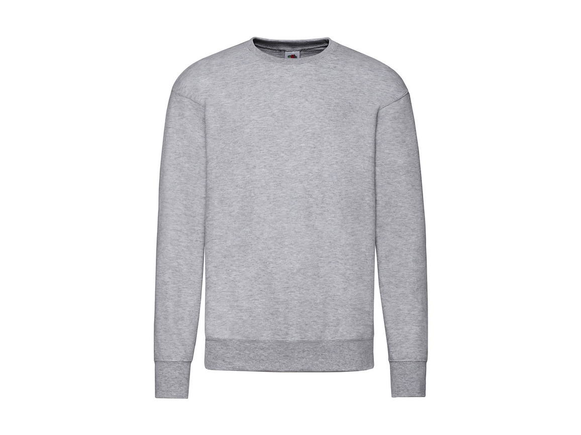 Fruit of the Loom Lightweight Set-In Sweat, Heather Grey, M bedrucken, Art.-Nr. 200011234