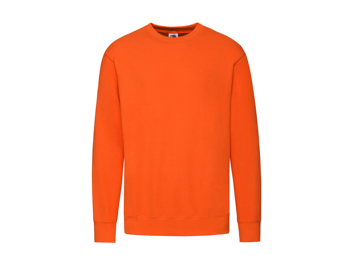 Fruit of the Loom Lightweight Set-In Sweat, Orange, 2XL bedrucken, Art.-Nr. 200014107